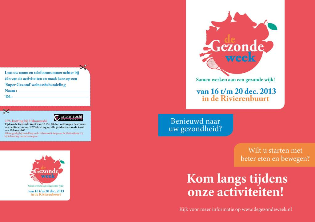 gezonde week flyer