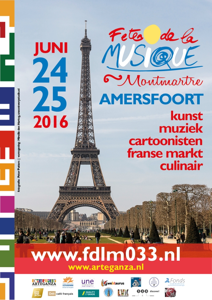 affiche Fete de la musique Amersfoort 2016